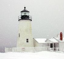 Pemaquid Point Snow