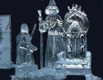Froddo and Gandolf Ice Sculpture