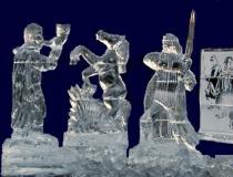 Ice Sculpture, Blue Background