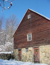 snowy old barn surprise