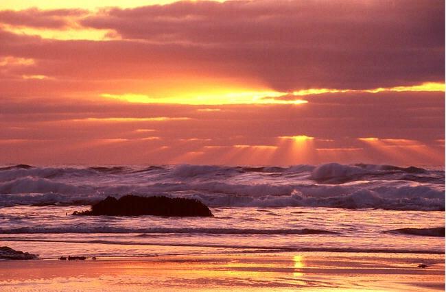 God Rays at Sunset