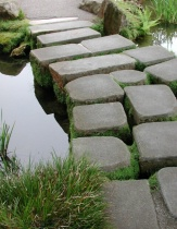 Stepping Stone Path across Water