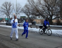 Olympic Torch In Colorado