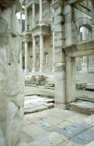 ruins of the library in Ephesus