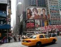 Time Square Cabs and Billboards