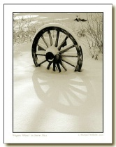 Wagon Wheel in Snow No.1