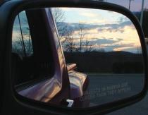 sunset on my truck