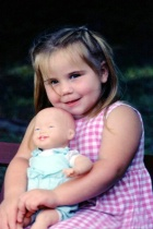 My grandaughter and her baby doll