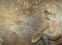 Copper wall mural