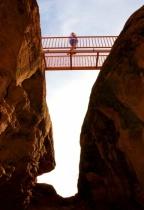 Hiker on Bridge - St. George, UT
