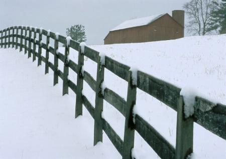 barn and fenceline