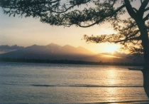 Sunrise in Mountain Rinjani