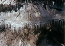 Unusual ice formations on the river
