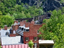 Harpers Ferry Rooftops by William Loveall, Jr.