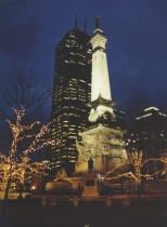 Night in Monument Circle