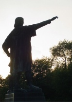Silhouette of Christopher Columbus