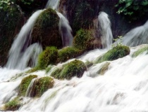 river flow with slow shutter speed
