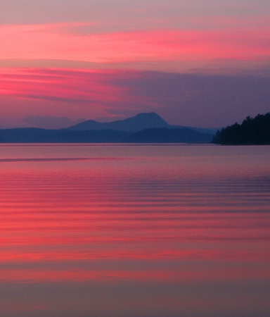 Sebec Lake Sunset