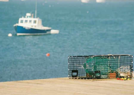 Lobster Trap & Boat