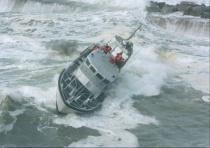 U. S. Coast Guard in heavy surf!!!!