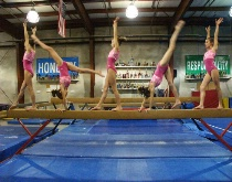 Gymnast in Action