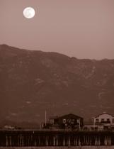 Moon over wharf