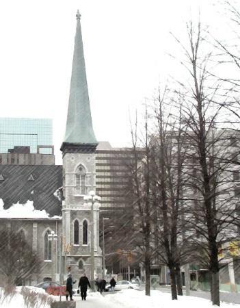 Winter Street Corner