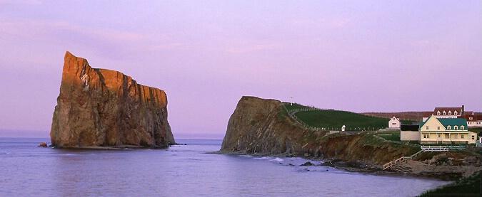 Rocher Perce at Sunset