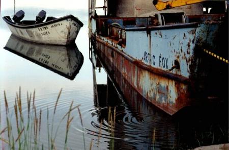 Sky Boat Reflection