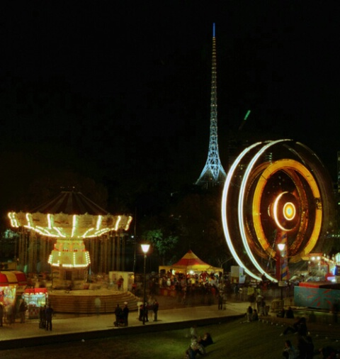 Melbourne Moomba Carnival rides