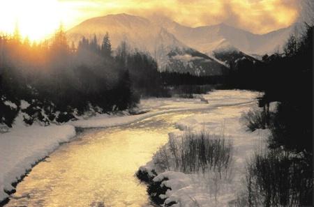 Winter Sunrise through the Mist