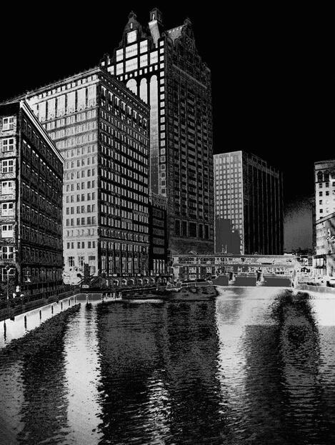 Milwaukee Riverfront - ID: 101110 © John D. Jones