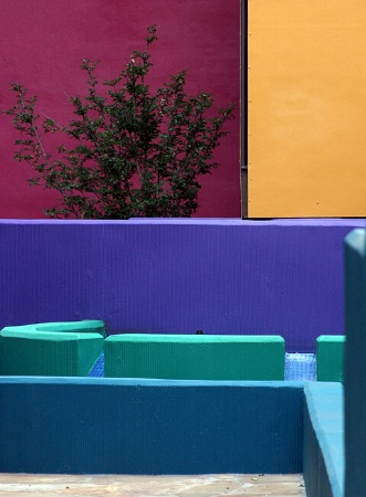 Colorful Courtyard