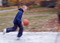 Andy playing basketball