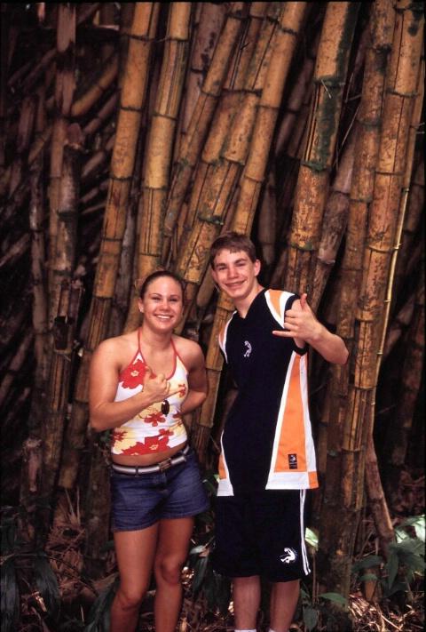 Cassie & Cory & bamboo