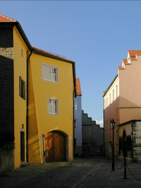 Late Afternoon Streetscape in Regensburg