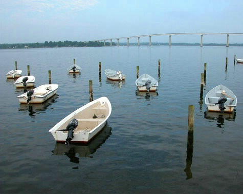 Boats at Rest, Solomon's Island, Maryland