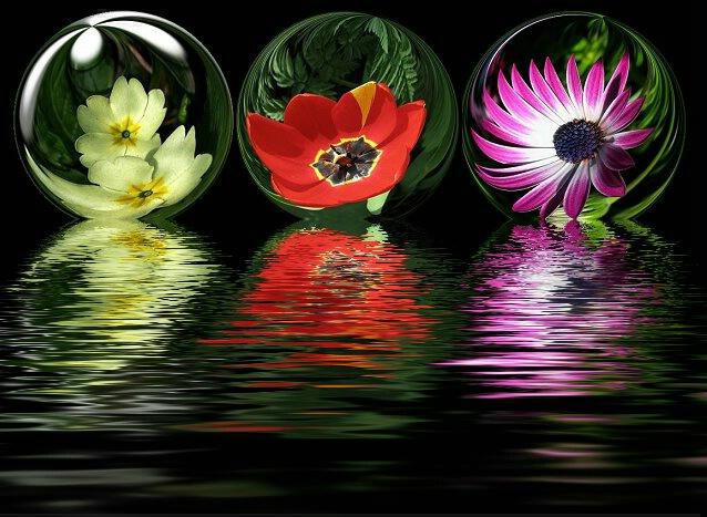 Mirrow balls reflected