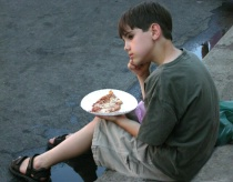 Pensive with Pizza