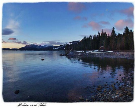 dawn over Tahoe