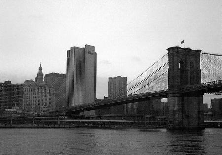 Brooklyn Bridge From Manhatten at Night