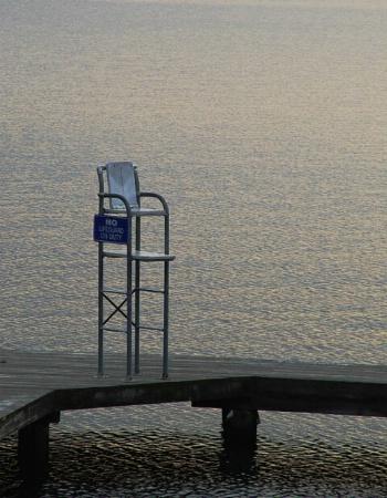 Empty Lifeguard Chair