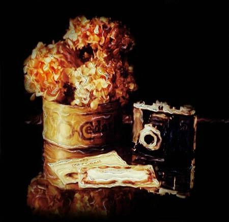 Hydrangea and Camera