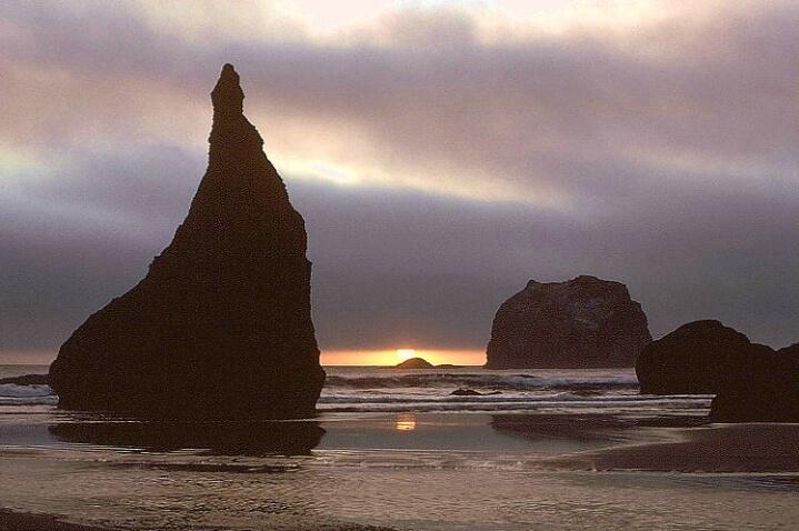 Sea Stack at Sunset