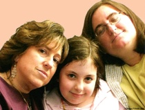 Portrait of 3 Women against Pink