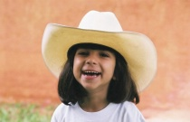 Girl with cowboy