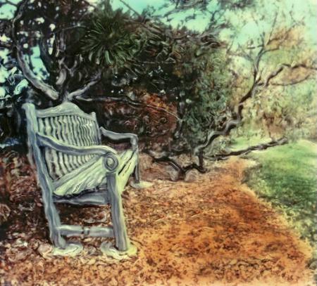 park bench sx70