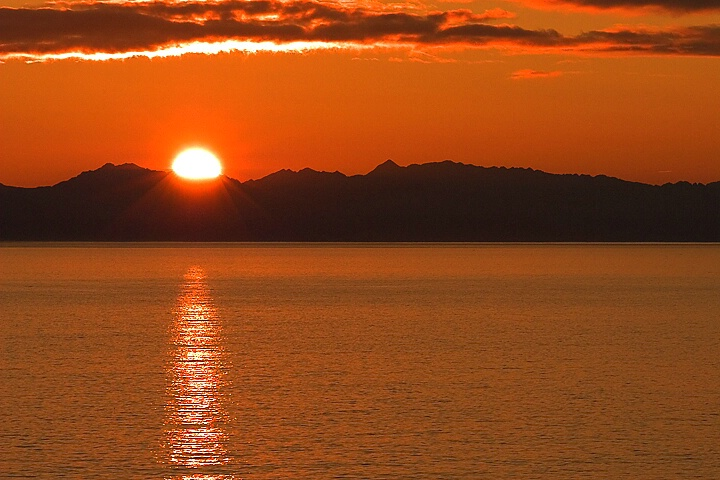 Sunset on Inside Passage