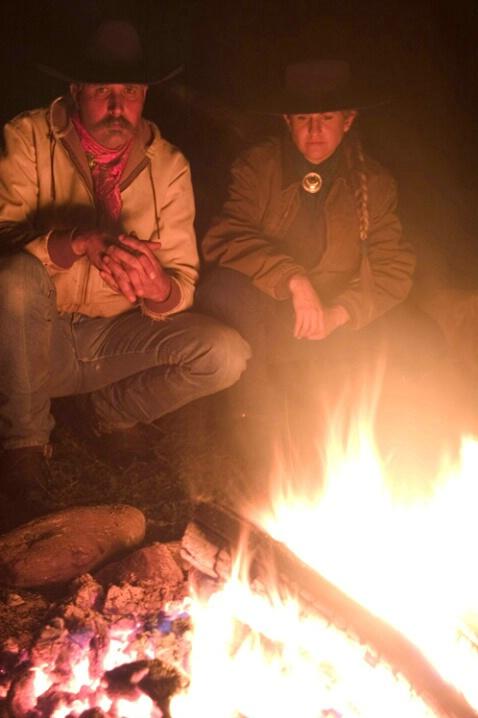 Ranchers at the Campfire - ID: 538217 © Jim Miotke