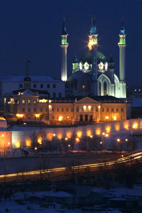 Kazan Kremlin at Night - ID: 538443 © Jim Miotke